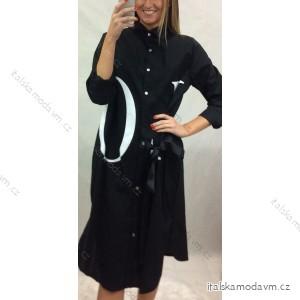 Šaty 3/4 dlhý rukáv košeľové dámske (uni s / l) TALIANSKÁ MÓDA IM920172