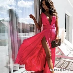 Šaty letní dlouhé na ramínka zavazovací dámské (UNI S/M) ITALSKÁ MÓDA IMM20749