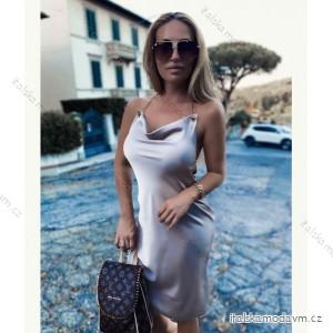 Šaty letní saténové na ramínka dámské (UNI S/M) ITALSKÁ MÓDA IMM20790